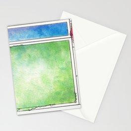 Rainbow Mondrian Stationery Cards