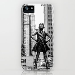 Fearless Girl New York City iPhone Case