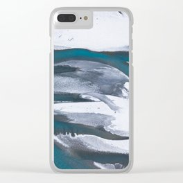 Melting Glacier Water Flowing Through The Landscape Clear iPhone Case