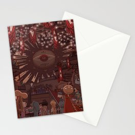 Monster Party Castle Stationery Cards