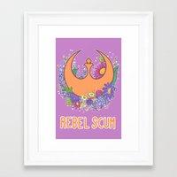 enerjax Framed Art Prints featuring Rebel Scum by enerjax