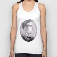 alex turner Tank Tops featuring Alex Turner Drawing by annelise johnson
