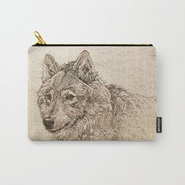 The Gray Wolf's Gaze Carry-All Pouch