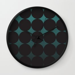 Circling Emerald Wall Clock