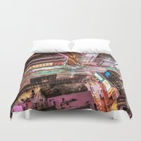nyc Duvet Covers featuring NYC  by Vivienne Gucwa