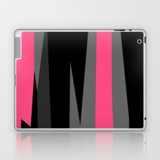 pink black and gray abstract Laptop & iPad Skin