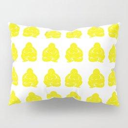 Golden Yellow Asian Moods Buddha Boys Pillow Sham