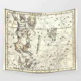 Orion, Lepus, Columba Constellations, Celestial Atlas Plate 23, Alexander Jamieson Wall Tapestry