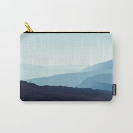 Blue relaxing landscape - mountains - happy days Carry-All Pouch