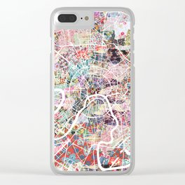 Moscow map Clear iPhone Case