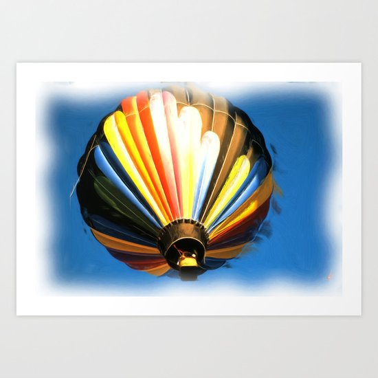 Up , Up and a away in my Beautiful Balloon . Art Print
