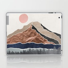 Mount Hood // Daylight Art Print Oregon Stratovolcano Rose Gold Silver Blue Cream Black Mountain Laptop & iPad Skin