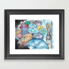 Under The Weather Framed Art Print