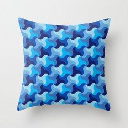 All-Blue Alhambra Throw Pillow
