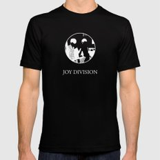 JOY DIVISION - Music | Goth | Indie | Wave | Retro | Vintage | Vector | Black and White | Vinyl  Black Mens Fitted Tee SMALL