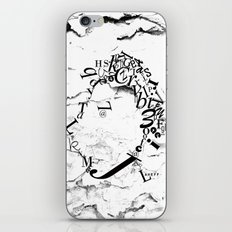 Typeface distressed iPhone & iPod Skin
