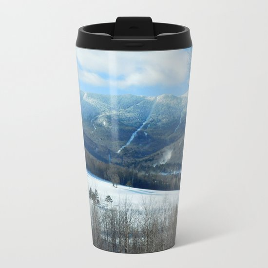 Ski Trails at Sugarbush Resort, Vermont Metal Travel Mug