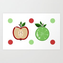 Apples and Lime Art Print