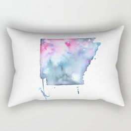 Arkansas Watercolor Map - State Map Watercolor - Abstract Map Art Rectangular Pillow