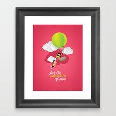 for the adventure of love Framed Art Print