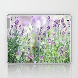 Lavender in summer garden Laptop & iPad Skin