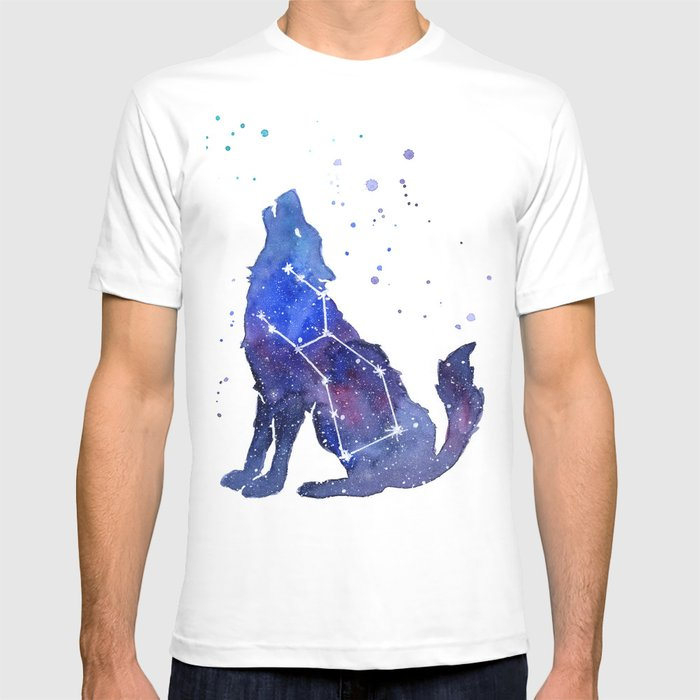 e74584216 Galaxy Wolf Lupus Constellation T-shirt by olechka | Society6