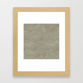 concrete texture monochrome warm grey Framed Art Print