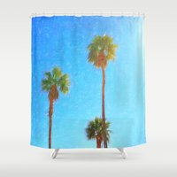 palms Shower Curtains featuring Palms by Tonya Doughty