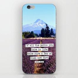 Lavender Mountain iPhone Skin