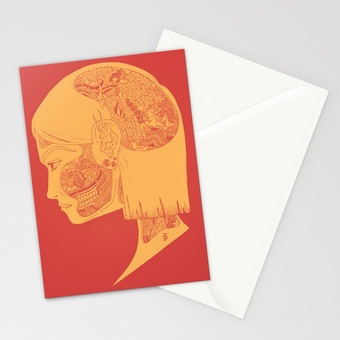 How the Strings are Pulled (Two-tone.) Stationery Cards