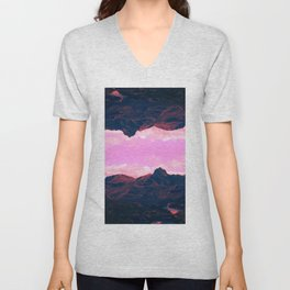 Landscape of Lakes Unisex V-Neck