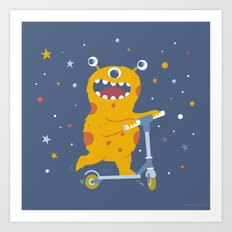 Scooter Monster Art Print