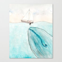 Whale watching Canvas Print