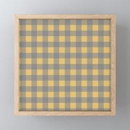 Hannibal Will Graham Digestivo Yellow and Gray Plaid Framed Mini Art Print