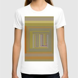 Anomaly in Brown Stripes graphic design T-shirt