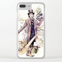 Willy Wonka and his chocolate factory Clear iPhone Case
