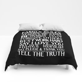 Family Rules Comforters