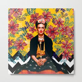 Frida Tropical Metal Print