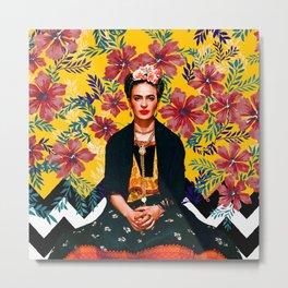 Frida Tropical Metal Print