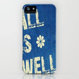 All Is Well - Blue Geni-ism Series iPhone Case