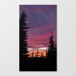 (#95) A Burning Sunset Canvas Print