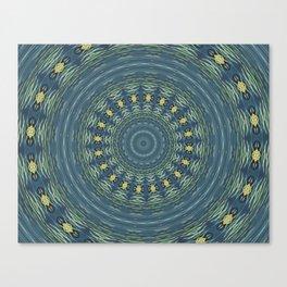 Silver Gull Mandala Canvas Print