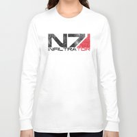 n7 Long Sleeve T-shirts featuring Alt Infiltrator by Draygin82