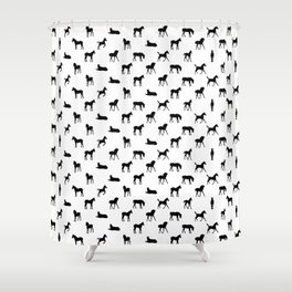 Foals All Over Pattern Shower Curtain