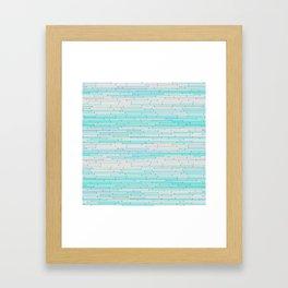 Sky Blue Random Line Sections Framed Art Print