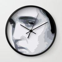 elvis presley Wall Clocks featuring Elvis Presley by  David Somers