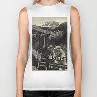 sweden Biker Tanks featuring GSTAAD SWEDEN by Kathead Tarot/David Rivera