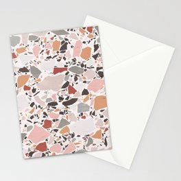 Neutral Terrazzo / Earth Tone Abstraction Stationery Cards
