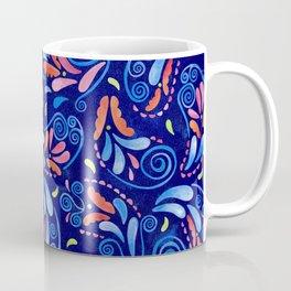 Multicolored Watercolor Paisley Florals Coffee Mug