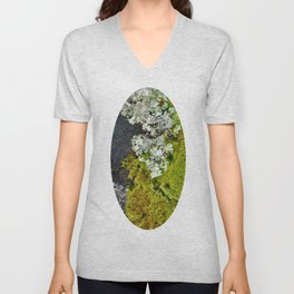 Tree Bark with Lichen#8 Unisex V-Neck